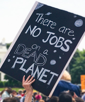 Protest: There are no jobs on a dead planet