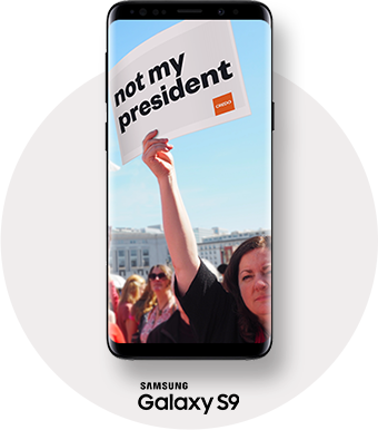 not my president Samsung Galaxy S9